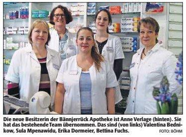 Das Team der Bännjerrück Apotheke in Kaiserslautern
